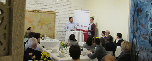 Business Lunch mit Felix Krause am 25.4.